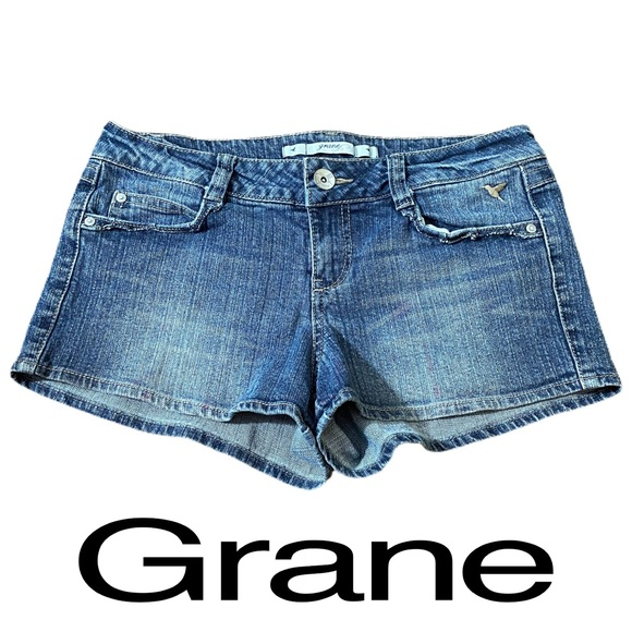 Grane Blue Denim Jean Shorts Womens Size Juniors 9